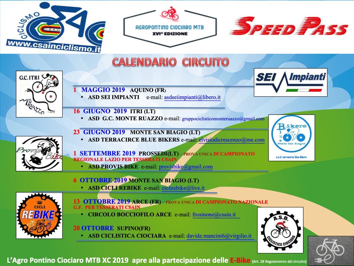 Pagina Di Calendario Settembre 2019.Circuito Agro Pontino Ciociaro Mtb Calendario